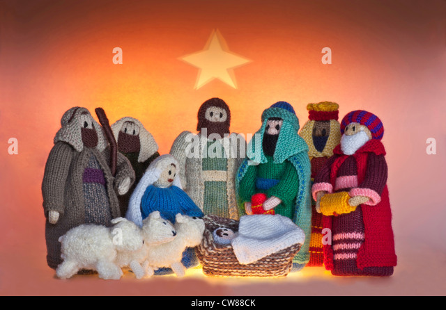 Knitting Patterns For Nativity Figures : Knitted Nativity Nativity Stock Photos & Knitted Nativity ...