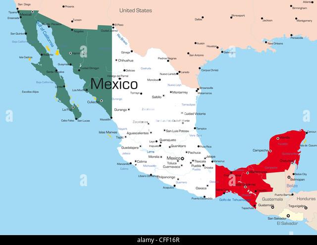 Honduras Administrative Political Map Flag Stock Photos Honduras - Honduras country political map