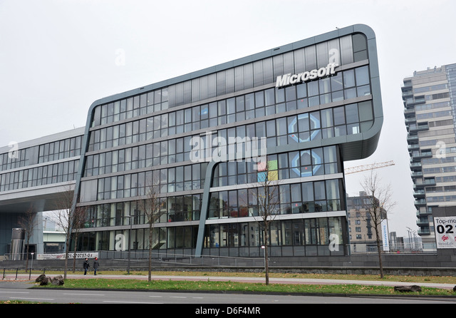 Cologne, Germany, Microsoft Office Buildings On The Bank Of The Rhine    Stock Image Part 81