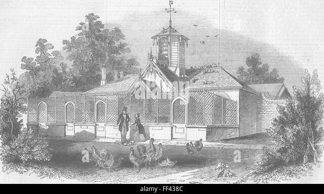 BERKS Queens Poultry Windsor House Home Park 1843 Illustrated London News