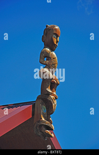 Maori carving christchurch stock photos