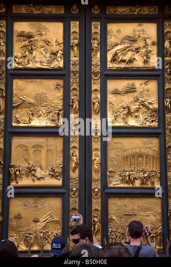 Ornate bronze doors  The Baptistry  Florence  Italy - Stock Image & Doors Baptistry Florence Stock Photos \u0026 Doors Baptistry Florence ... Pezcame.Com