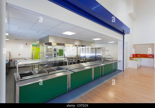 New Primary School Kitchen Servery.   Stock Image