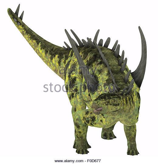Diplodocus And Kentrosaurus Models: Dinosaurs The Jurassic Period Stock Photos & Dinosaurs The