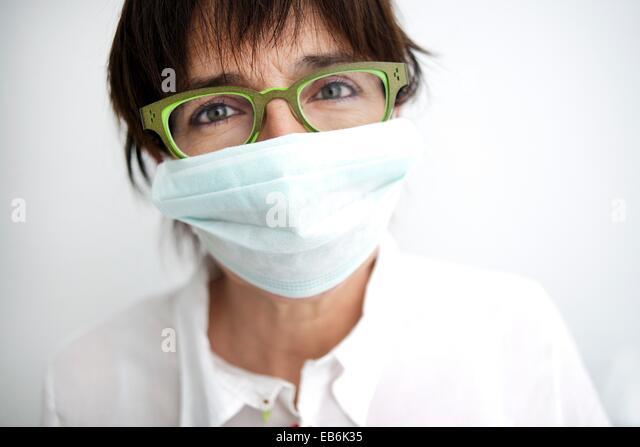 La máscara para la persona que se ha bronceado