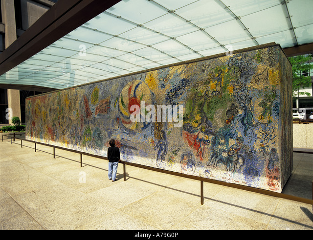 Chagall stock photos chagall stock images alamy for Mural in chicago illinois
