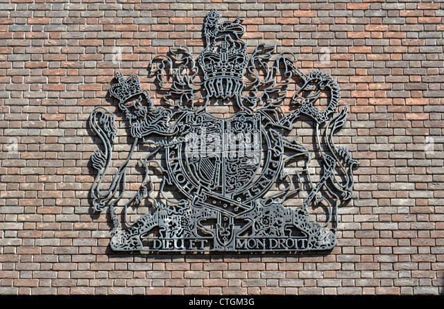 Chelmsford Crown Court Royal Coat Of Arms Of The United Kingdom On External  Wall Of Court