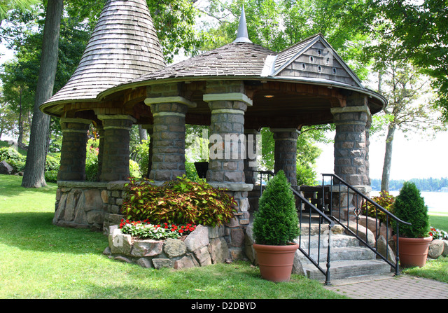 Gazebo And Garden Stock Photos Gazebo And Garden Stock Images