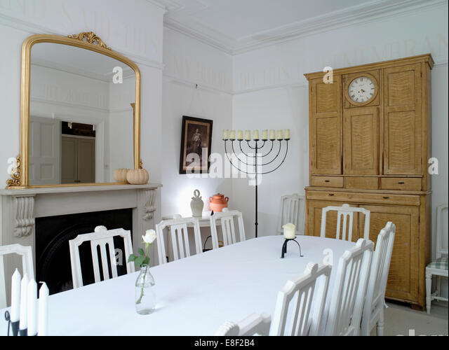 Dining Room Mirrors Antique interiors dining room mirrors stock photos & interiors dining room