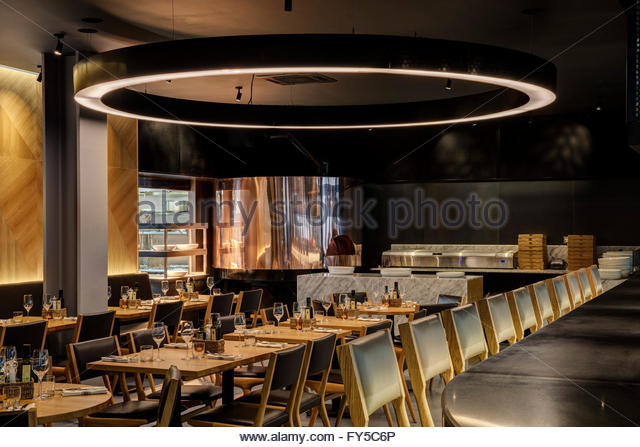 Restaurant Kitchen View counter view obica restaurant stock photos & counter view obica