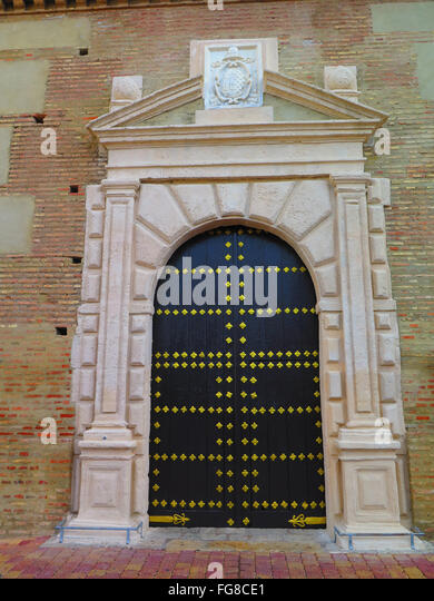 Gold studded Church door at Parish Church in Tabernas Almeria Province Andalucia - Stock Image & Gold Door Studs Stock Photos \u0026 Gold Door Studs Stock Images - Alamy