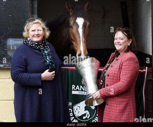 Grand National Winner One For Arthurs Owners Balinda McClung Left And Debbs Thomson Pictured