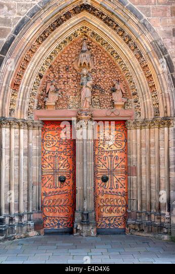 Gothic St Elizabeths Church Portal With A Pointed Arch Marburg Hesse