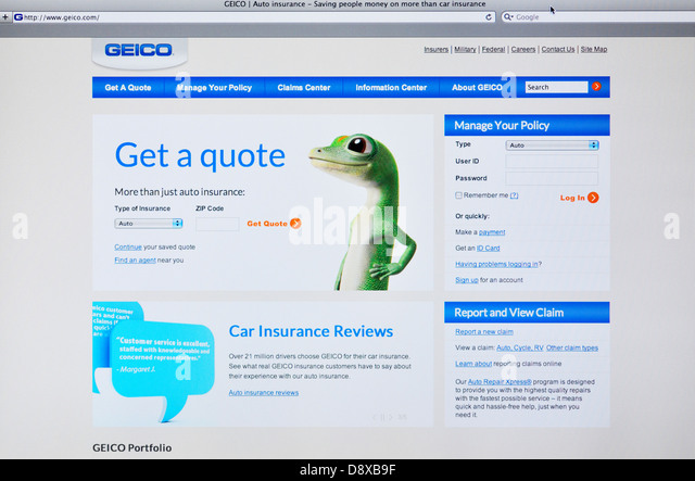 Geico Quote Auto Insurance Best Geico Car Insurance Stock Photos & Geico Car Insurance Stock