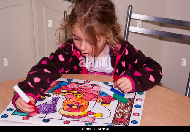 Coloring Book Child Stock Photos  Coloring Book Child Stock