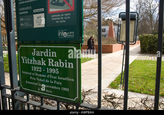 Yitzhak rabin stock photos yitzhak rabin stock images alamy for Jardin yitzhak rabin