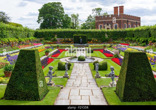 Roses In Garden: Hampton Court Palace Garden Stock Photos & Hampton Court
