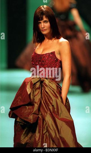 Fashion Model Helena Christensen Stock Photos & Fashion ...