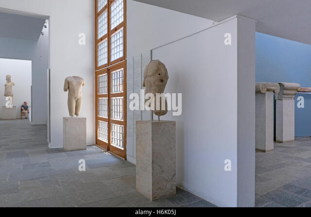 Samos Greece Samos Archaeological Museum Stock Photos ...