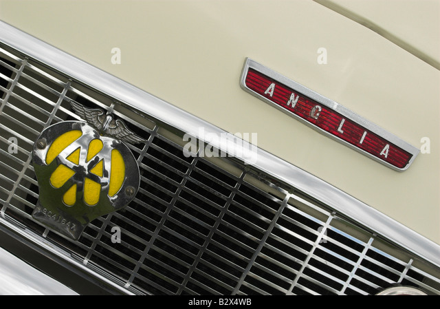 Ford Anglia car badge bonnet and grill. - Stock Image & Classic Ford Anglia Badge Stock Photos u0026 Classic Ford Anglia Badge ... markmcfarlin.com