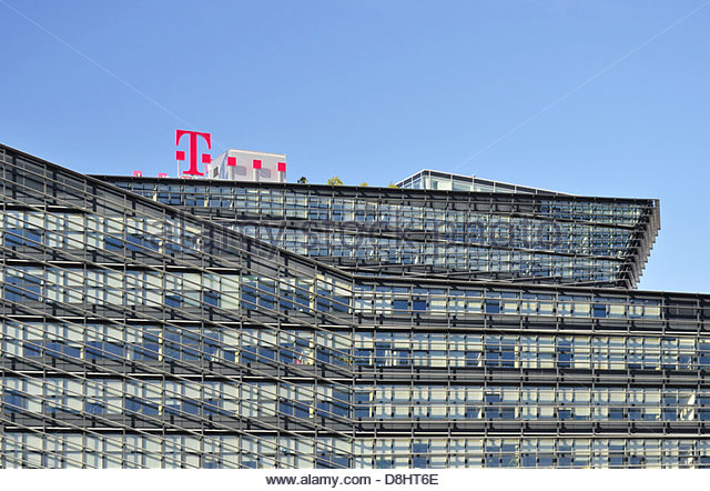 Perfect T Mobile Center   Modern Office Building In Vienna Austria Europe   Stock  Image