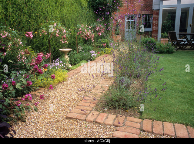 Brick Gravel Path Stock Photos Brick Gravel Path Stock