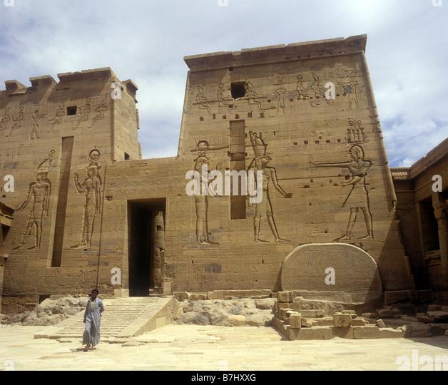 Bas relief on walls temple stock photos