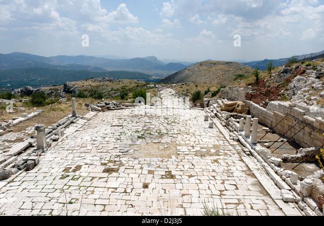 Heroon At Archaeological Site Of Sagalassos Stock Photos ...
