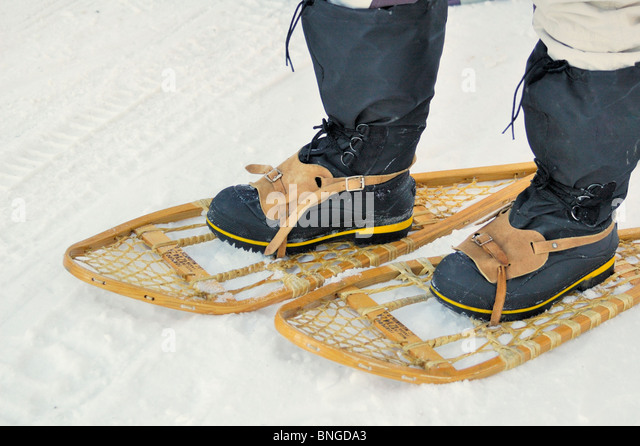 traditional snowshoes stock photos traditional snowshoes