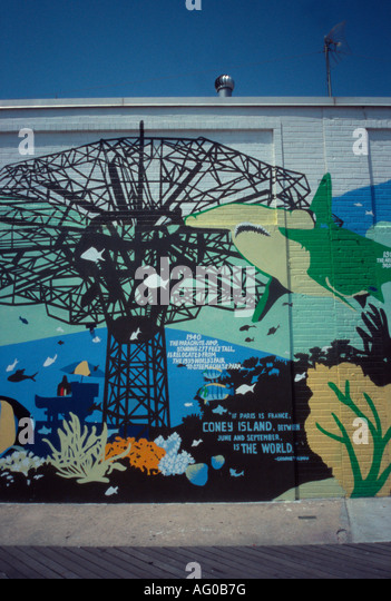 Aquarium mural stock photos aquarium mural stock images Aquarium in coney island