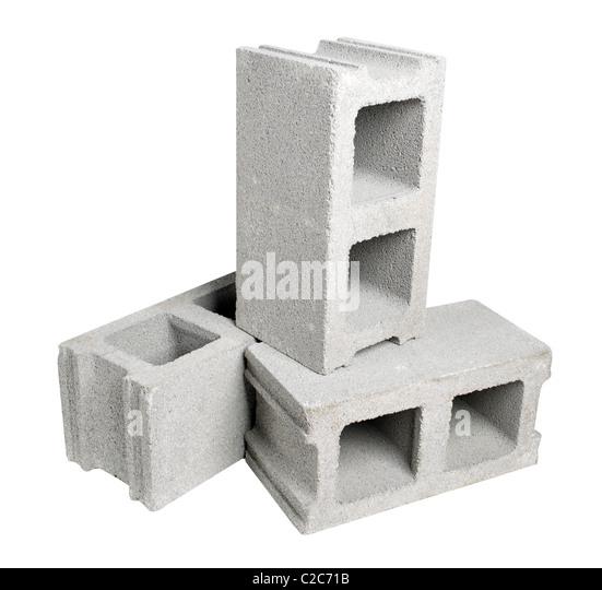 Concrete block foundation stock photos concrete block for Cinder block vs concrete foundation