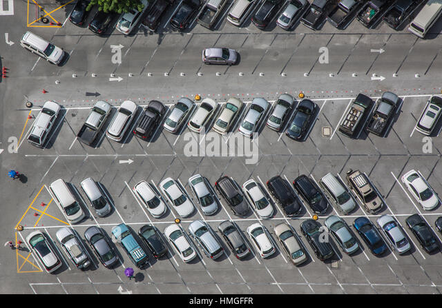 Parking Lot From Above Stock Photos Parking Lot From Above Stock