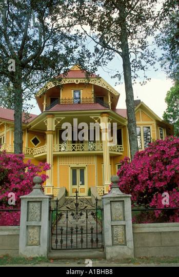 Historic Lapham Patterson Mansion With Blooming Azaleas Thomasville GA