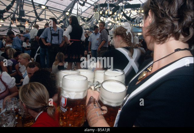 Beer Hall Carrying Glasses