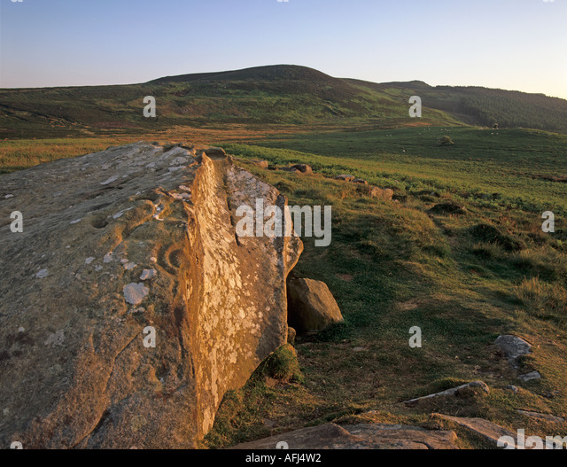 Neolithic rock art carved stock photos