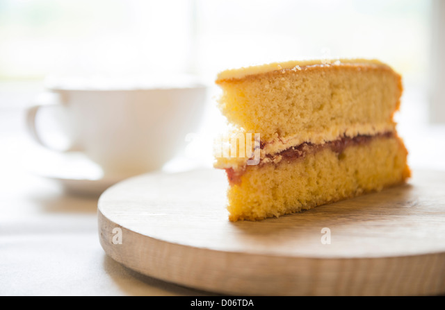 sponge cake slice stock photos sponge cake slice stock