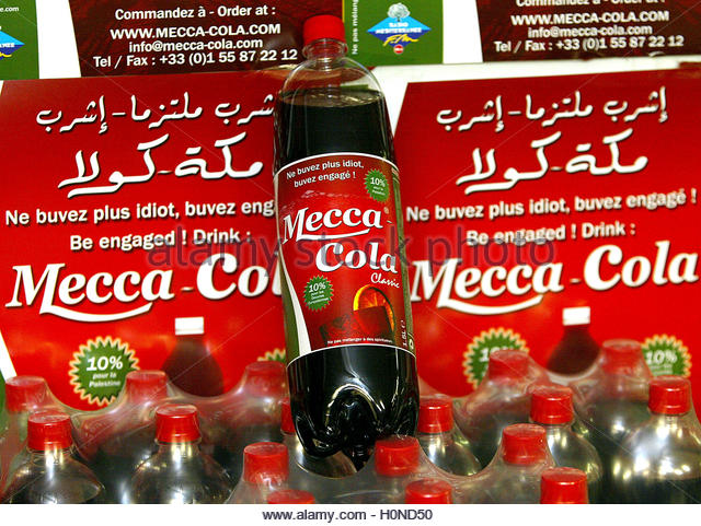 mecca cola Mecca-cola is now sold in some parts of the arab world as well as in certain regions of europe it has also been bought and consumed in certain parts of the united states, britain, india and canada although the product was created in france,.