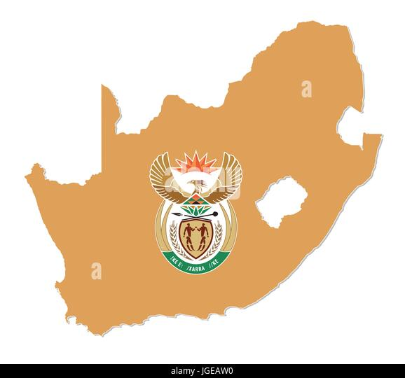 South Africa Map Outline Stock Photos  South Africa Map Outline