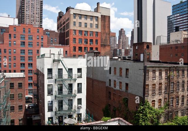 Hells Kitchen Manhattan New York City New York Stock Photos ...