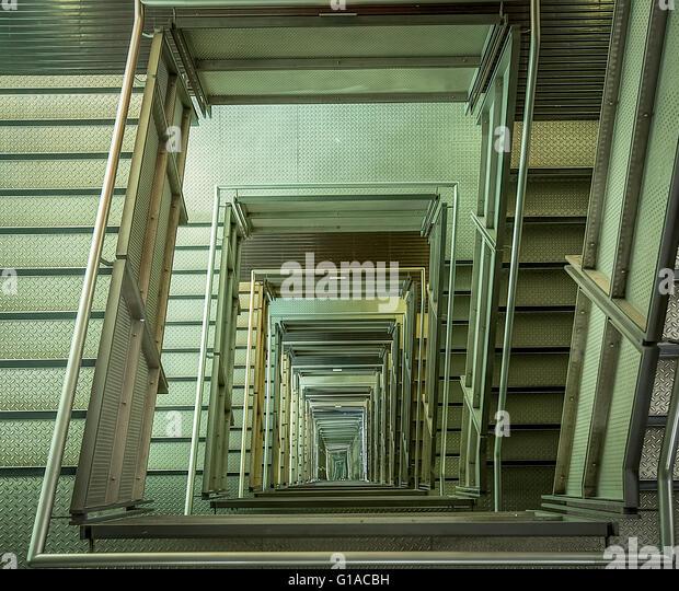 Spiral staircase office stock photos spiral staircase for Square spiral staircase