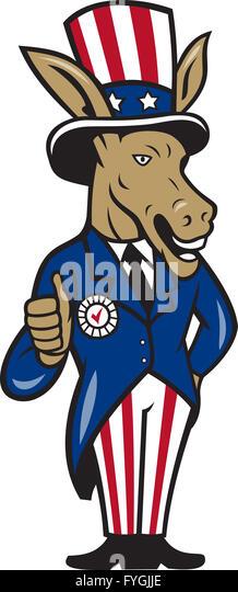 Democrat Donkey Cartoon Stock Photos & Democrat Donkey ...