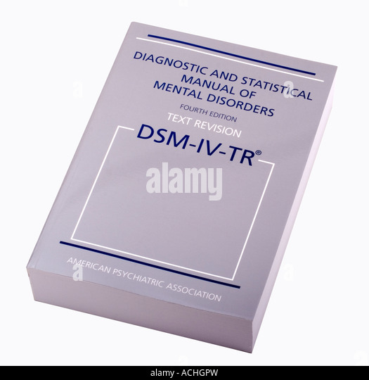 diagnostic and statistical manual of mental disorders iv tr
