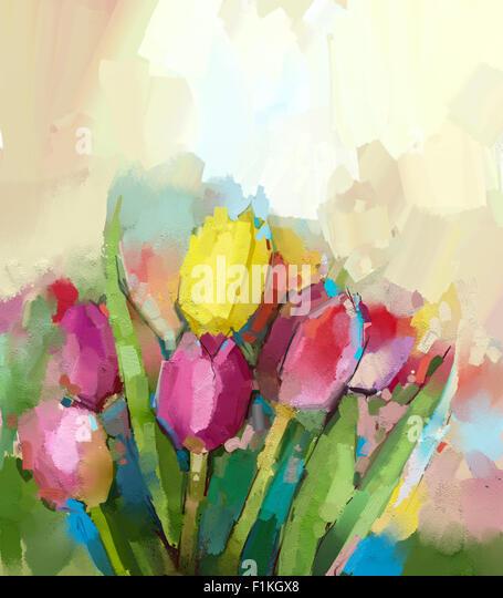 light background paintings tulip flower oil painting stock photos tulip flower oil painting
