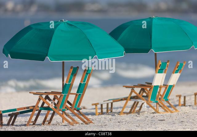 Beach Umbrellas Lounge Chairs Stock s & Beach