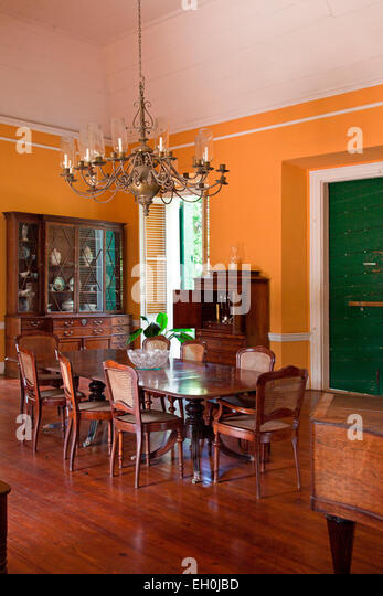 Frederiksted, St. Croix: Dining Room Detail Of The Main Estate House At  Estate