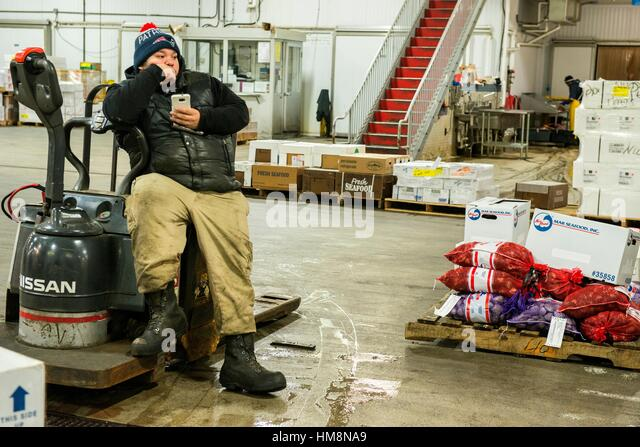 Hunts point stock photos hunts point stock images alamy for New fulton fish market