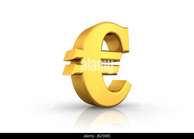 Gold Euro Text Currency Sign Stock Photos Gold Euro Text Currency