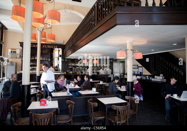 Café bar zurich stock photos