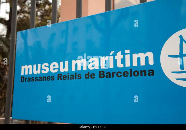 Barcelona Museu Maritim Stock Photos & Barcelona Museu Maritim Stock Imag...