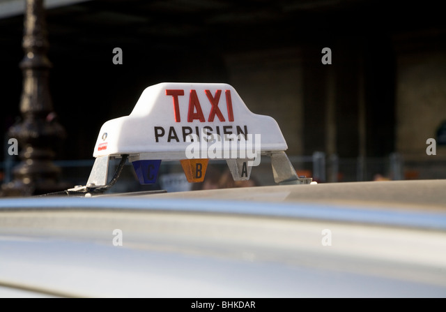 taxi light top light roof taxilight on paris parisien stock photo picture and royalty. Black Bedroom Furniture Sets. Home Design Ideas
